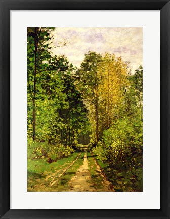 Framed Wooded Path, 1865 Print