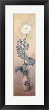 Framed White Poppy, 1883 Print
