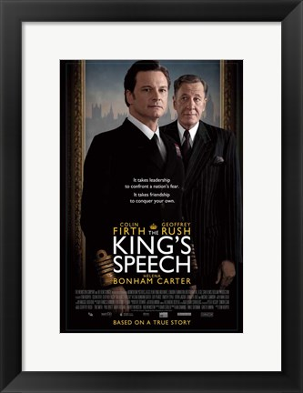 Framed King's Speech Colin Firth Print