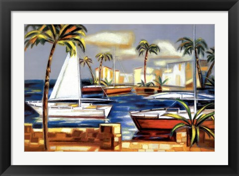Framed Bay Breeze IV Print