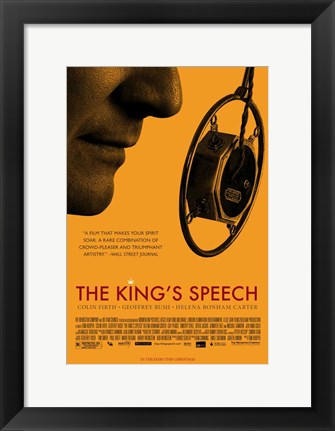 Framed King's Speech Print