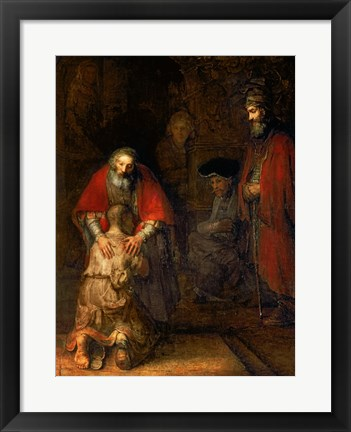 Framed Return of the Prodigal Son, c.1668 Print