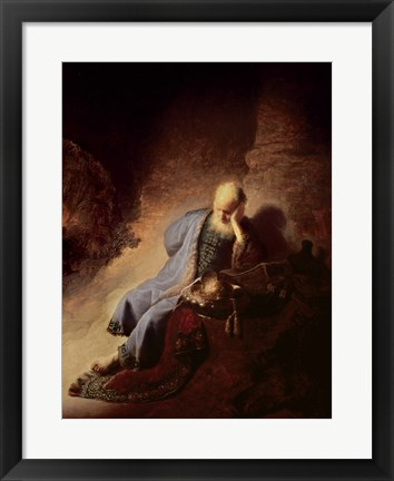 Framed Jeremiah mourning over the Destruction of Jerusalem Print