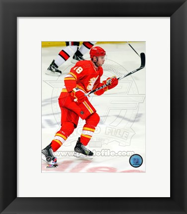 Framed Matt Stajan 2010-11 Action Print