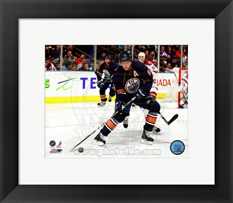 Framed Ales Hemsky 2010-11 Action Passing Print