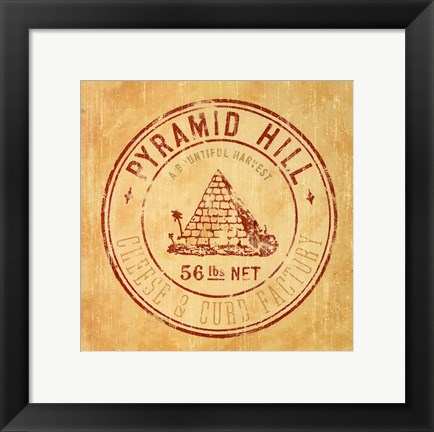 Framed Pyramid Hill Print