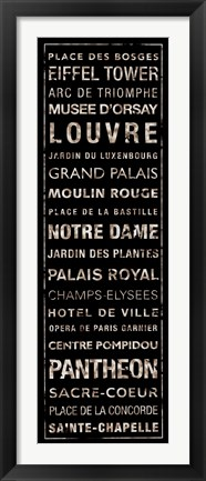 Framed Transit Paris I Print