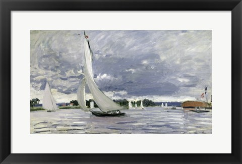 Framed Regatta at Argenteuil, 1872 Print