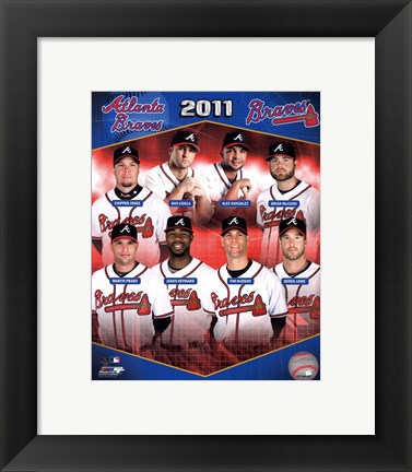 Framed Atlanta Braves 2011 Team Composite Print