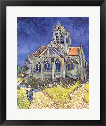 Framed Church at Auvers-sur-Oise, 1890 Print