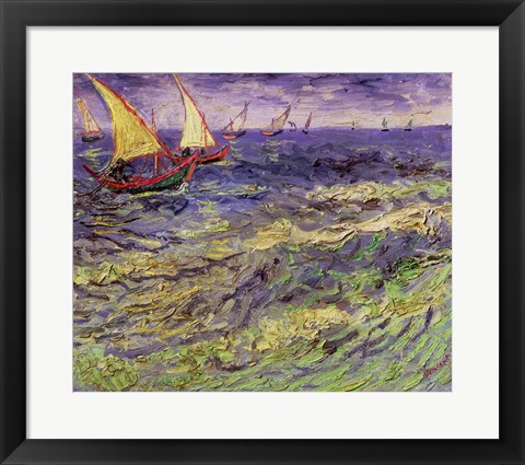 Framed Seascape at Saintes-Maries Print