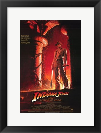 Framed Indiana Jones and the Temple of Doom Harrison Ford Print
