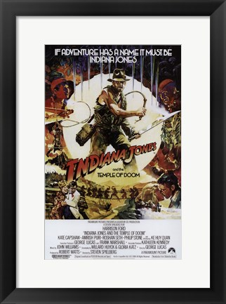 Framed Indiana Jones and the Temple of Doom Movie Print