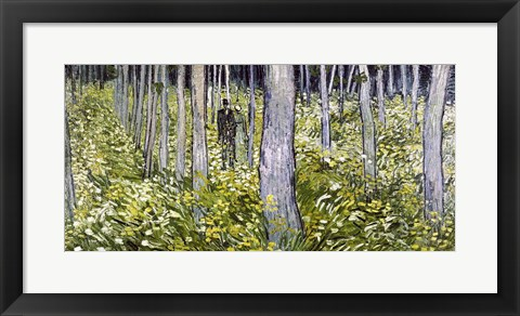 Framed Undergrowth with Two Figures, 1890 Print