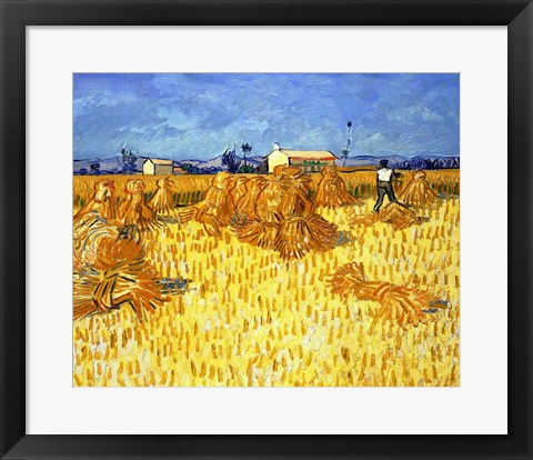 Framed Harvest in Provence Print