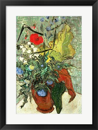 Framed Bouquet of Wild Flowers Print