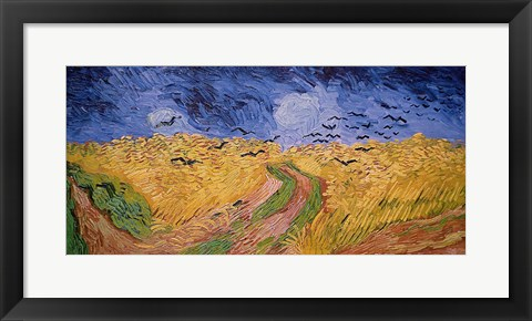 Framed Wheatfield with Crows, 1890 Print