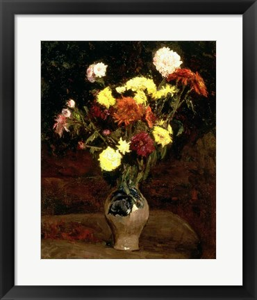 Framed Still Life of Flowers Print
