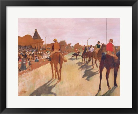Framed Parade, or Race Horses in front of the Stands Print
