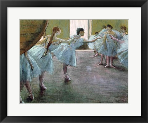 Framed Dancers at Rehearsal Print