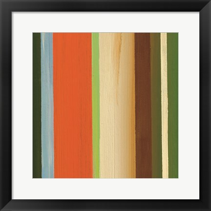 Framed Hampton Stripe I Print