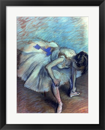 Framed Seated Dancer - bent over Print