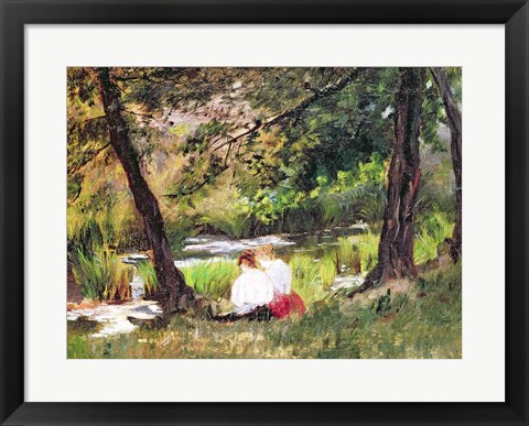 Framed Two Seated Women Print