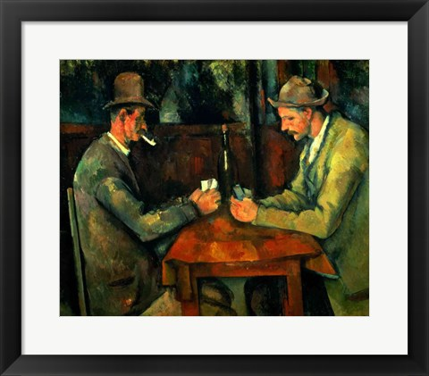 Framed Card Players 1890-95 Print
