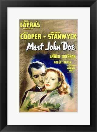 Framed Meet John Doe Print