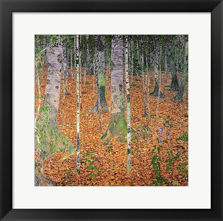 Framed Birch Wood, 1903 Print
