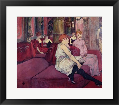 Framed In the Salon at the Rue des Moulins, 1894 Print