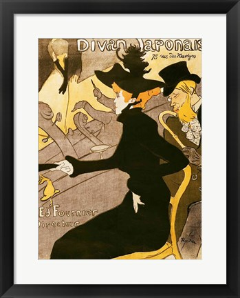 Framed Poster advertising 'Le Divan Japonais', 1892 Print