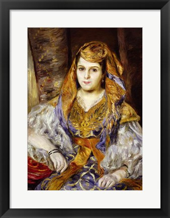 Framed Algerian Woman, 1870 Print