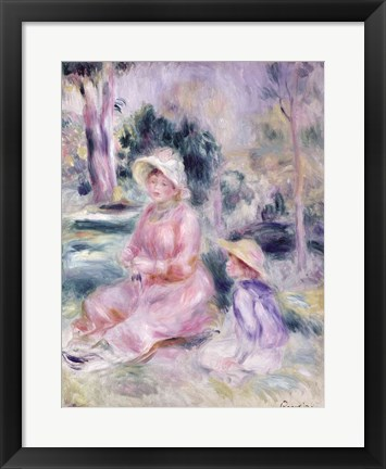 Framed Madame Renoir and her son Pierre, 1890 Print