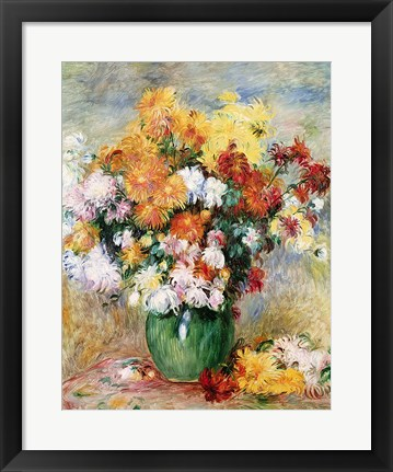 Framed Bouquet of Chrysanthemums, c.1884 Print