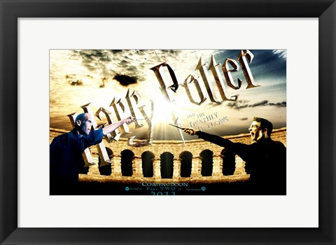 Framed Harry Potter and the Deathly Hallows: Part II - 2011 Print