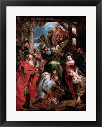 Framed Adoration of the Magi, 1624 Print