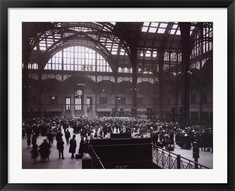 Framed Penn Station-New York Print