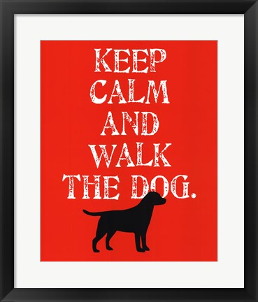 Framed Keep Calm (Labrador) Print