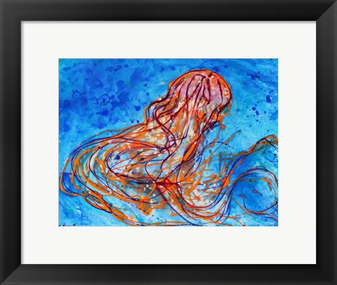 Framed Abstract Jellyfish Print