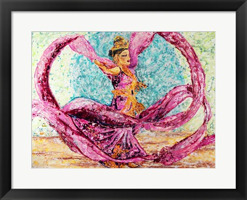 Framed Ribbon Dancer Print