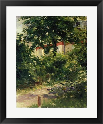 Framed Corner of the Garden in Rueil, 1882 Print