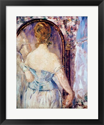 Framed Woman Before a Mirror Print
