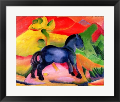 Framed Little Blue Horse, 1912 Print