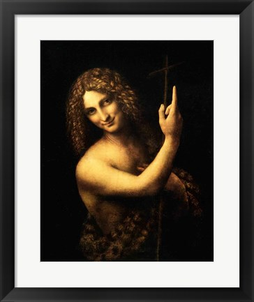 Framed St. John the Baptist, 1513-16 Print
