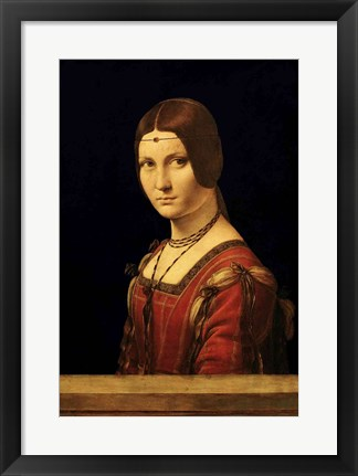 Framed Portrait of a Lady from the Court of Milan Print