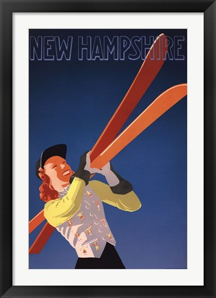 Framed New Hampshire Print