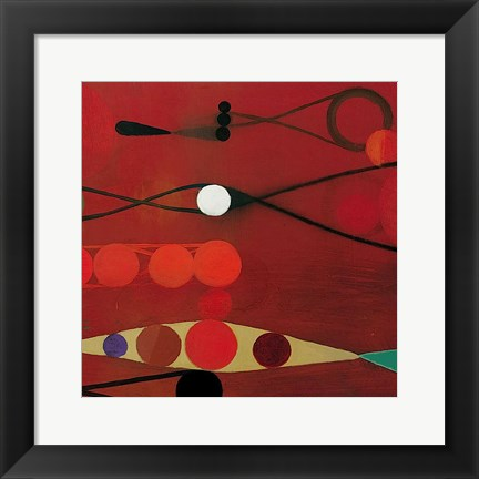 Framed Red Seed #34 Print