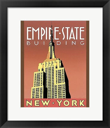 Framed Empire State Building Print