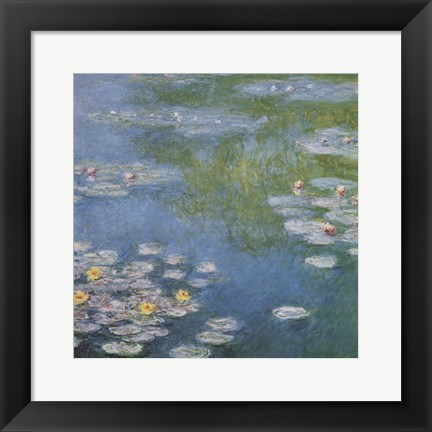 Framed Nympheas at Giverny Print